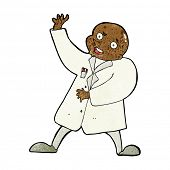 stock photo of mad scientist  - cartoon mad scientist - JPG