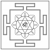 stock photo of lakshmi  - Yantra Hindu Goddess Shri Lakshmi - JPG