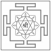 foto of sri yantra  - Yantra Hindu Goddess Shri Lakshmi - JPG