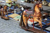 stock photo of flea  - Retro horses at the flea market  - JPG