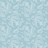 image of east-indian  - Seamless Paisley background - JPG