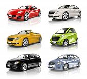 stock photo of status  - Group of 3D Cars - JPG