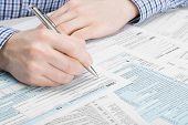 stock photo of irs  - Tax Form 1040  - JPG