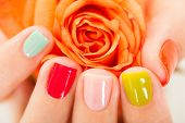 stock photo of manicure  - Close - JPG