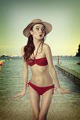 Постер, плакат: Summer Woman In Bikini