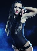 stock photo of striptease  - Fashion shoot of young sexy striptease dancer - JPG