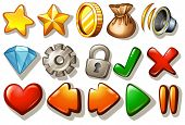 foto of heart sounds  - Assorted gaming design elements on white - JPG