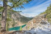stock photo of hamlet  - Lake Agnes view from Big Beehive - JPG