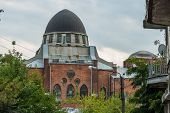 stock photo of synagogue  - old synagogue in ruin in kharkiv ukraine - JPG
