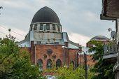foto of synagogue  - old synagogue in ruin in kharkiv ukraine - JPG
