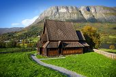 image of church  - Wonderful landscape with  - JPG