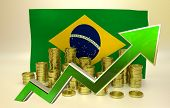 stock photo of brazilian money  - currency appreciation illustration  - JPG