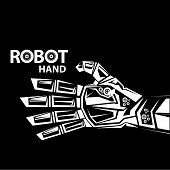 stock photo of robotics  - vector robotic arm symbol icon - JPG