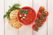 pic of vegetable soup  - Gazpacho - JPG