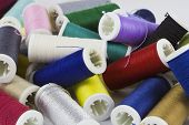 image of rayon  - Background with colored sewing thread ready for use - JPG