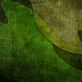 stock photo of tarp  - Military grunge background with green abstract stains - JPG