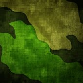 picture of tarp  - Military grunge background with green abstract stains - JPG