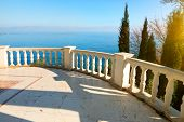 picture of balustrade  - Balustrade in a city park near sea - JPG