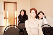 stock photo of middle class  - Group of womans sitting in education class - JPG