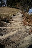 picture of ling  - some stairs in nature are going down - JPG