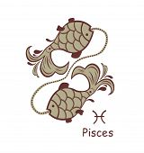 stock photo of pisces  - Decorative pisces - JPG