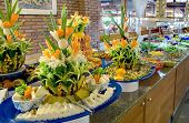 pic of buffet  - food buffet in restaurant - JPG