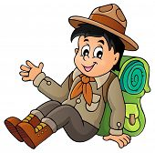 picture of boy scouts  - Scout boy theme image  - JPG
