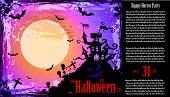 Постер, плакат: Наводящий Hallowen партии Флаер для развлечения события