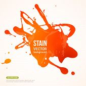 Splatter Paint Banner.  Orange Painted Background poster