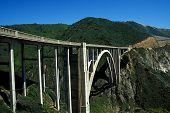 picture of bixby  - historic bixby bridge off big sur in california - JPG