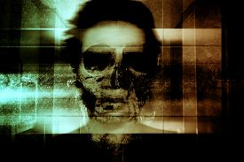 picture of scary haunted  - Ghost Face - JPG
