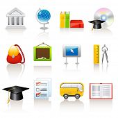 stock photo of knapsack  - education icons - JPG