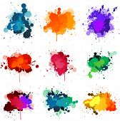 stock photo of paint spray  - Paint splats - JPG