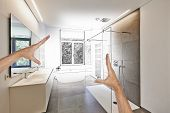Planned Renovation Of A Luxury Modern Bathroom poster
