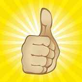 foto of thumbs-up  - Thumb Up Gesture  - JPG