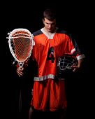 stock photo of lax  - Lacrosse Player - JPG