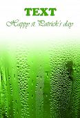 Green clover beer background border, st.Patrick's day holiday celebration with text space, lucky con