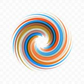 Abstract Swirl Design Element. Spiral, Rotation And Swirling Movement. Vector Illustration With Dyna poster