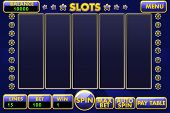 Vector Interface Slot Machine In Blue Colored. Complete Menu Of Graphical User Interface And Full Se poster