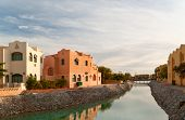 Canal in el-Gouna, Egypt