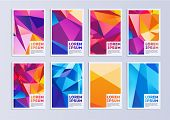 Vector Template Covers With Geometric Pattern. Set Of Vector Cover Templates. Modern Set Of Covers.  poster