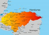 Vector color map of Honduras country
