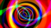 Rotating Rainbow Swirl. Seamless Loop. Psychedelic Tunnel Multicolored Trip. Computer Generated Abst poster