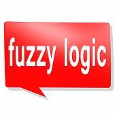 Fuzzy Logic Word On Red Speech Bubble, 3d Rendering poster