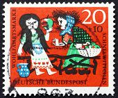 Postage stamp Germany 1962 Snow White and Witch, Scene from The