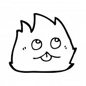 cartoon cute furry little creature poster