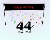 Постер, плакат: 44 Й день рождения