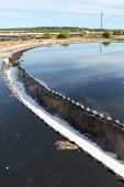 picture of sedimentation  - Industrial round sedimentation reservoir for water treatment - JPG