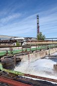 image of waste reduction  - Industrial water treatment plant with waste water - JPG