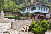 Old House And A Stone Bridge In The Architectural Complex Etara, Bulgaria